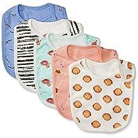 Rosie Pope Baby 5 Pack Bibs, Flamingo/Swimmers/Stripes/Seashells, OS