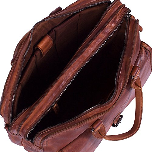 The Chesterfield Brand Johnny Laptoptasche Leder 45 cm Laptopfach Anthracite