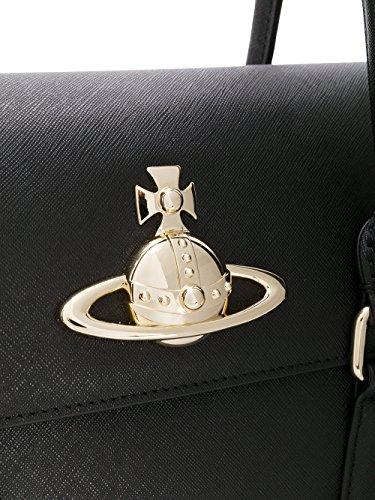 Mujer Bolso Cuero Westwood 4203003640187N401 Mano Vivienne Negro De O8qfH