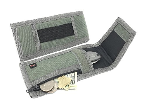 Rainbow of California Mini Flashlight Knifecase Holder Outside Zipper Pocket USA (Foliage Green)