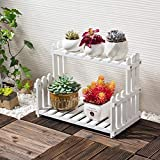 HZB Wooden Flower Rack, Living Room Balcony, Multi-Storey Flower Pot Rack
