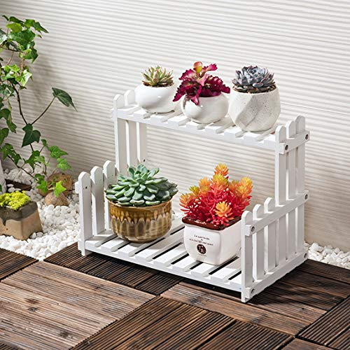 HZB Wooden Flower Rack, Living Room Balcony, Multi-Storey Flower Pot Rack by HZB flower frame