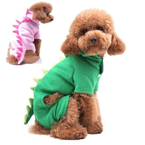 Dinosaur Transfiguration Soft Velure Dog Cat Jumpsuit Pet Clothes (Animal Planet Raptor Dog Costume)