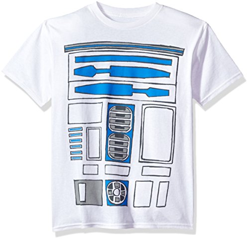 Boba Costumes (Star Wars Big Boys' R2d2 Body Costume Graphic Tee, White, YM)