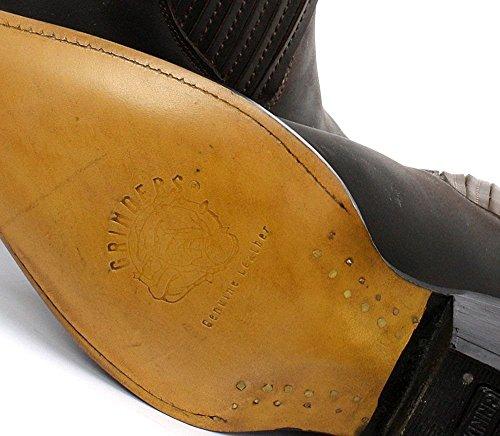 GRINDERS Mustang Herren Braun Leder Cowboy Biker Stiefel Motorradfahrer Westernstiefel Unisex
