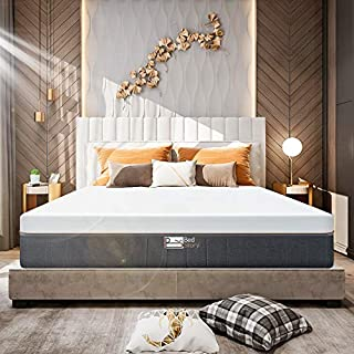 BedStory 12 Inch Gel Memory Foam Mattress-Medium-Firm Feel Bamboo Charcoal Infused Breathable Bed Mattress-Full