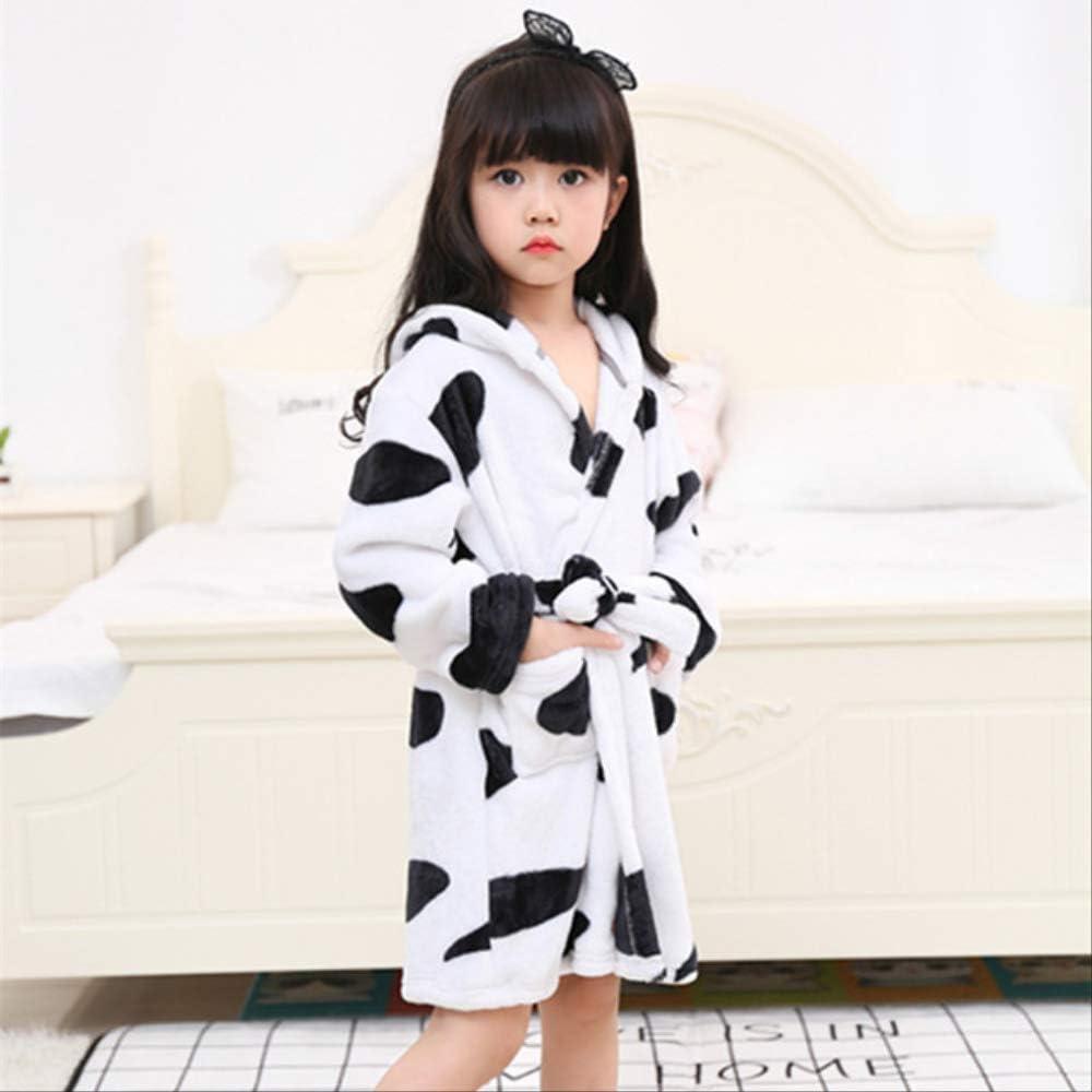 Toalla para niños Playa Ropa de baño para bebés Albornoz con capucha Animal Unicornio con capucha Para niños Niñas Pijama Camisón Ropa de dormir para niños Bata 4T Vaca