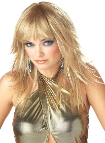 California Costume Women's Feathered And Flirty Wig, Blonde, (Halloween Costume Blonde)