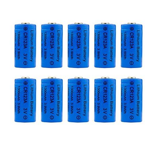 G-Sight CR123A-10PK CR123A 3V Lithium Batteries 10 Pack