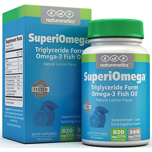 Omega 3 Fish Oil High in EPA DHA for Eye, Heart, Joint & Cognitive Health – SuperiOmega: The Gold Standard in Fish Oil Capsules – Triglyceride Form – Wild-Caught Fish – Lab Tested – 90-day Supply