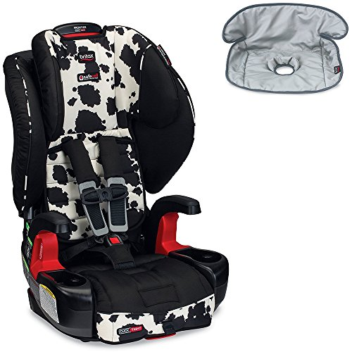 Britax Frontier G1.1 Clicktight Harness-2-Booster Car Seat w Seat Saver Waterproof Liner Cowmooflage