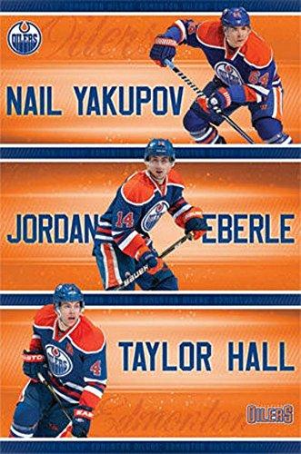Edmonton Oilers Trio Nhl Sports Poster