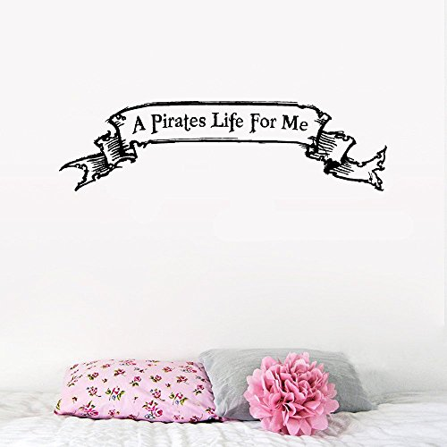 peics Decor Stickers Walls Art Words Sayings Removable Lettering A Pirates Life for Me]()