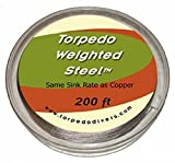 Torpedo Weighted Steel Fishing Line (45 lb 200 ft)