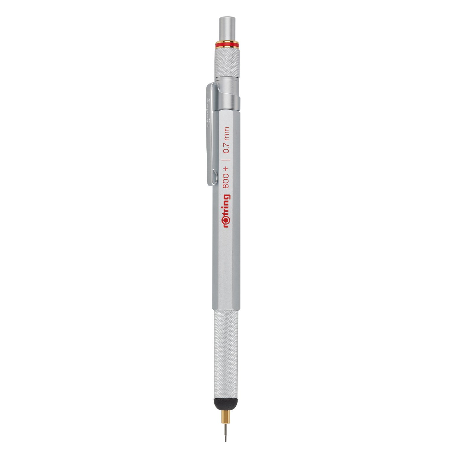 rOtring 1900184 800+ Mechanical Pencil and Touchscreen Stylus, 0.7 mm, Silver Barrel by Rotring (Image #3)