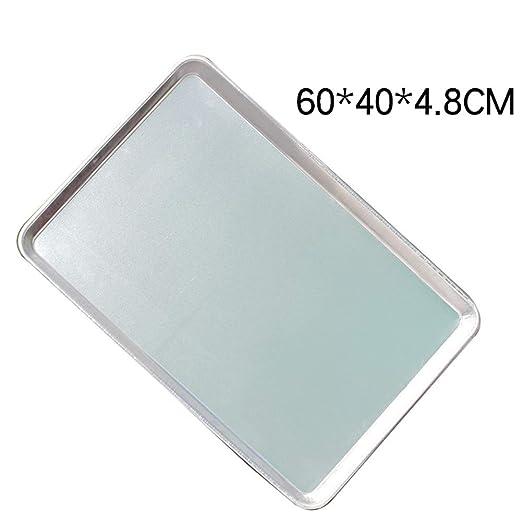 KGHONY - Bandeja rectangular de aluminio para horno, 60 x 40 cm 60 ...