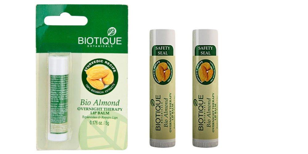 (Pack of 2) Biotique Bio Almond Overnight Therapy Lip Balm - 5g