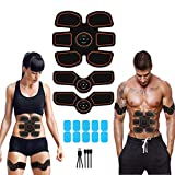 APZOVO Muscle Toner Rechargeable, Abdomen Muscle Trainer with 6 Modes 10 Levels, Muscle Toner Toning Belt for Men Women, Free 10pcs Gel Pads Included Review