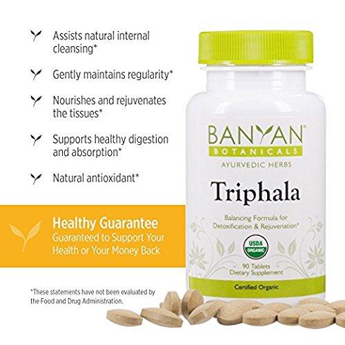 Banyan Botanicals Triphala - USDA Organic, 90 Tablets - Balancing Formula for Detoxification & Rejuvenation* - incensecentral.us