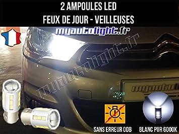 myautolight coffret ampoules led voiture veilleuses blanche xenon pour c4 ii feux de jour position