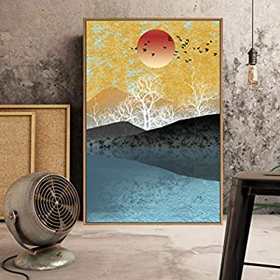 Fascinating Visual, Framed Home Artwork Abstract Scenery for Living Room Bedroom, Quality Artwork