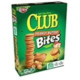 Keebler Club Peanut Butter Bites, Mini Sandwich Crackers, 8.8 oz Box