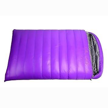 MIAO Saco de dormir - Plumas para acampar al aire libre Personas dobles Sacos de dormir, Inicio Padres y niños Sacos de dormir , purple: Amazon.es: Deportes ...