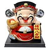 JY$ZB Creative resin ornaments Fortuna large piggy bank crafts gift 35 29 34cm