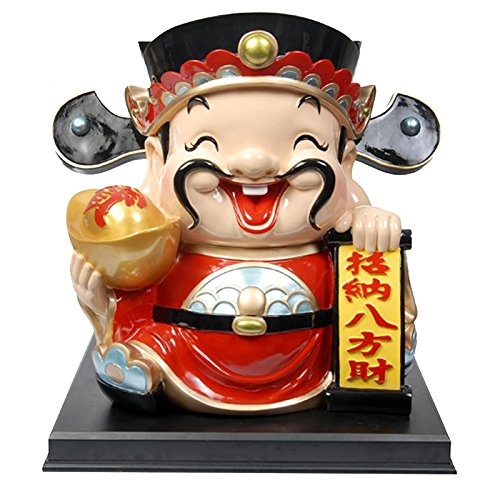 JY$ZB Creative resin ornaments Fortuna large piggy bank crafts gift 35 29 34cm by JY$ZB