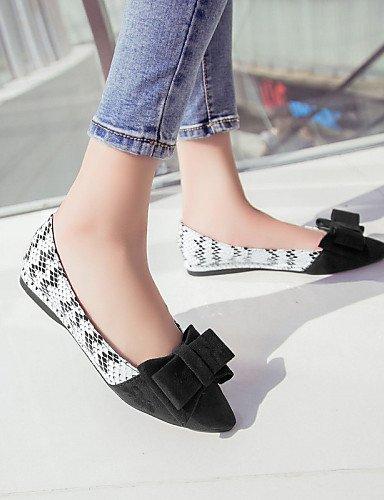 Cn39 Talón Eu39 Las zapatos Mujeres Plano Negro De Casual Black Toe Uk6 azul us8 Flats Pdx Señaló BxnaqIEBw