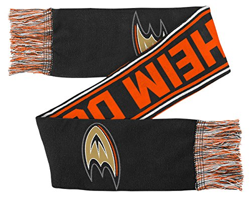 NHL Anaheim Ducks Youth Boys Winter Scarf, 1 Size, Black