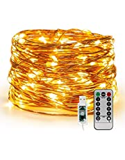 Window Curtain String Light 300 LED 8 Lighting Modes Fairy Lights Remote Control USB Powered Waterproof Lights for Christmas Bedroom Party Wedding Home Garden Wall Decorations,(Warm White)