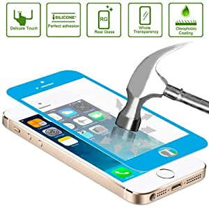 DIYLooks Glasto Toughened Protective Explosion-proof Tempered Glass Film Screen Protector for iPhone 5 / 5S / 5C (Blue)