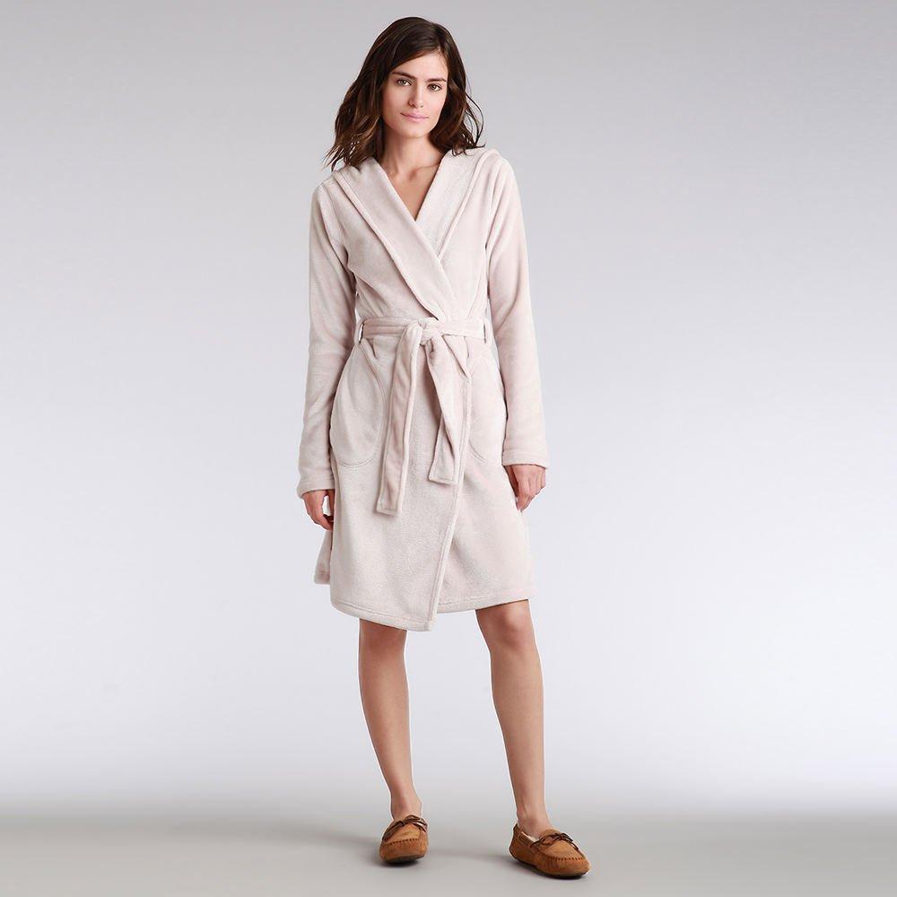 UGG Miranda Hooded Fleece Robe, L, Moonbeam