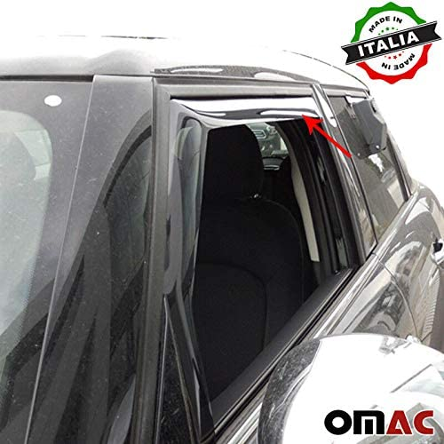 Omac GmbH Mini Cooper 5/Door Climair Front Wind and Rain Deflector 2/Pieces Set from 2014
