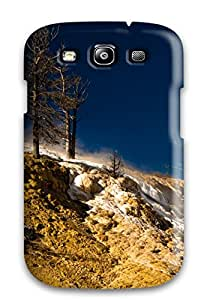 Anne Harris Pena's Shop Galaxy S3 Case Cover - Slim Fit Tpu Protector Shock Absorbent Case (yellowstone National Park Mammoth Springs) 4065779K64320219