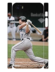 Artistical Theme Smart Phone Case Cute Men Baseball Player Designed Hard Plastic Case Cover for Iphone 5 5s (XBQ-0001T) by lolosakes
