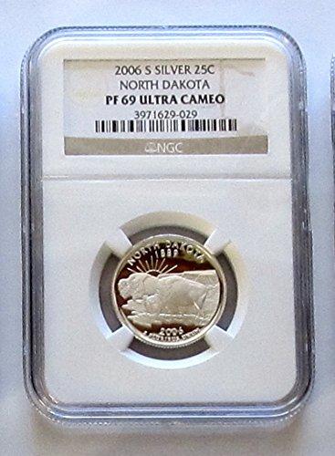 (2006-S North Dakota Silver State Quarter NGC PF69)