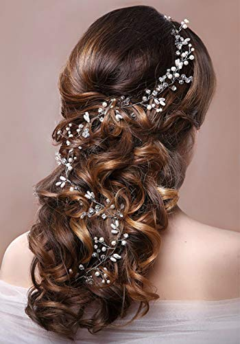 Headband Hair Vines,Ideal Swan Golden Bridal Wedding Crystals Jewelry Decorative Wedding headpiece Accessories Hair Vine-Suitable for Brides and Bridesmaids(Gold)