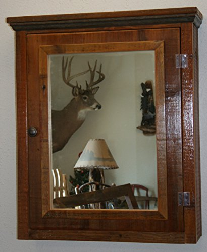 Barn Wood Medicine Cabinet With Mirror