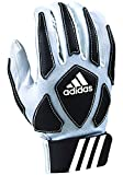 adidas Scorch Destroyer Youth Full Finger Lineman's Gloves, White/Black, Small