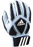 adidas Scorch Destroyer Youth Full Finger Lineman's Gloves, White/Black, Large