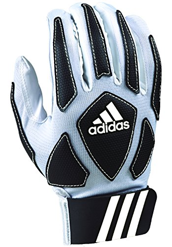 adidas Scorch Destroyer Youth Full Finger Lineman's Gloves, White/Black, Medium