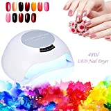 Nail Oil Dryer Lamp, 48W Stylish LED Light Gel Nails Drying Curing Tool for Manicure