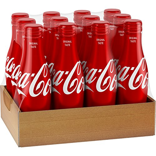Coca Cola Aluminum Bottle  8 5 Ounce  Pack Of 12