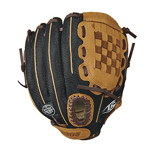 Louisville Slugger 10.5-Inch FG Genesis Baseball Infielders Gloves, Brown, Right Hand - Center Louisville Kids