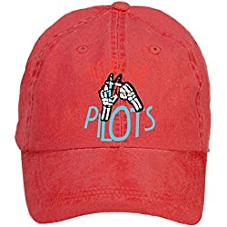 LongDaCo 21 Twenty One Pilots Tour Classic Baseball Cap with Adjustable Hat Men Red