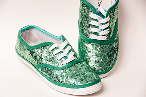 a0297f665191 Women's Mint Green Starlight Sequin Canvas Oxford Sneakers. by princess  pumps: custom shoes & more!