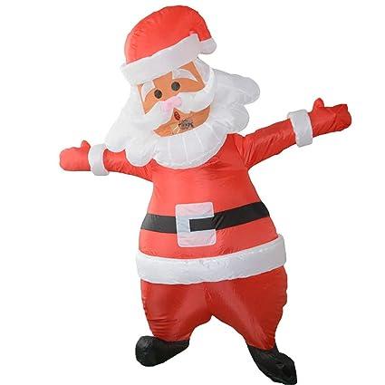 AmaMary Disfraz de Santa Inflable para Adultos Papá Noel Inflable ...