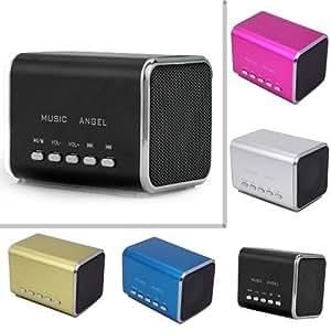 REPRODUCTOR DIGITAL MP3 USB + ALTAVOCES ORDENADOR PC + RADIO FM + CON 2 ALTAVOZ STEREO + PANTALLA LCD FRECUNCIA BUSQUEDA AUTOMATICA CANAL - MINI SPEAKER ALTAVOZ AUDIO REPRODUCE PENDRIVE Y TF MICRO SD HI-FI